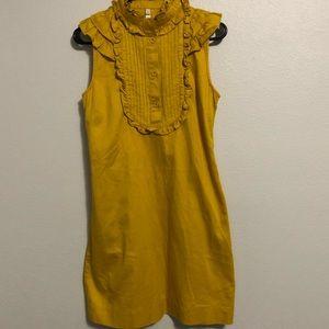 Fossil ruffle mustard yellow dress